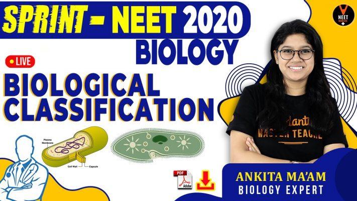 Biological Classification Class 11 | NEET 2020 Preparation | NEET MCQ Biology in Hindi |Ankita Ma'am
