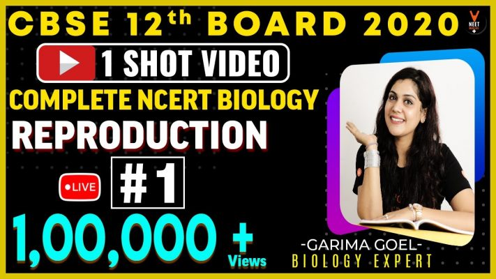 Complete 12th NCERT Biology (Reproduction Unit 1) One Shot | CBSE 12th Board Exam 2020 | Garima Goel