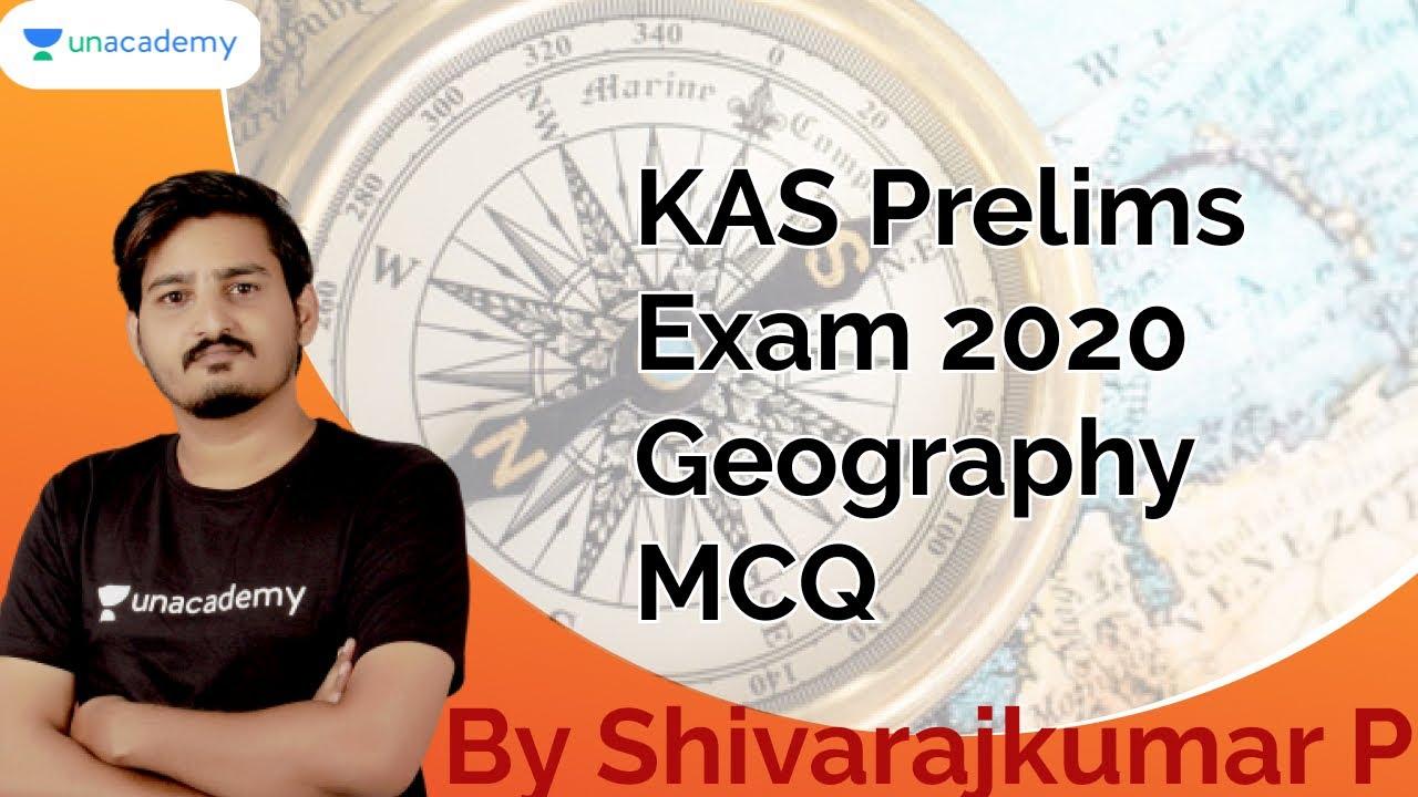 KAS Prelims Exam 2020   Geography MCQs   KAS / FDA / SDA / PSI   Shivarajkumar P