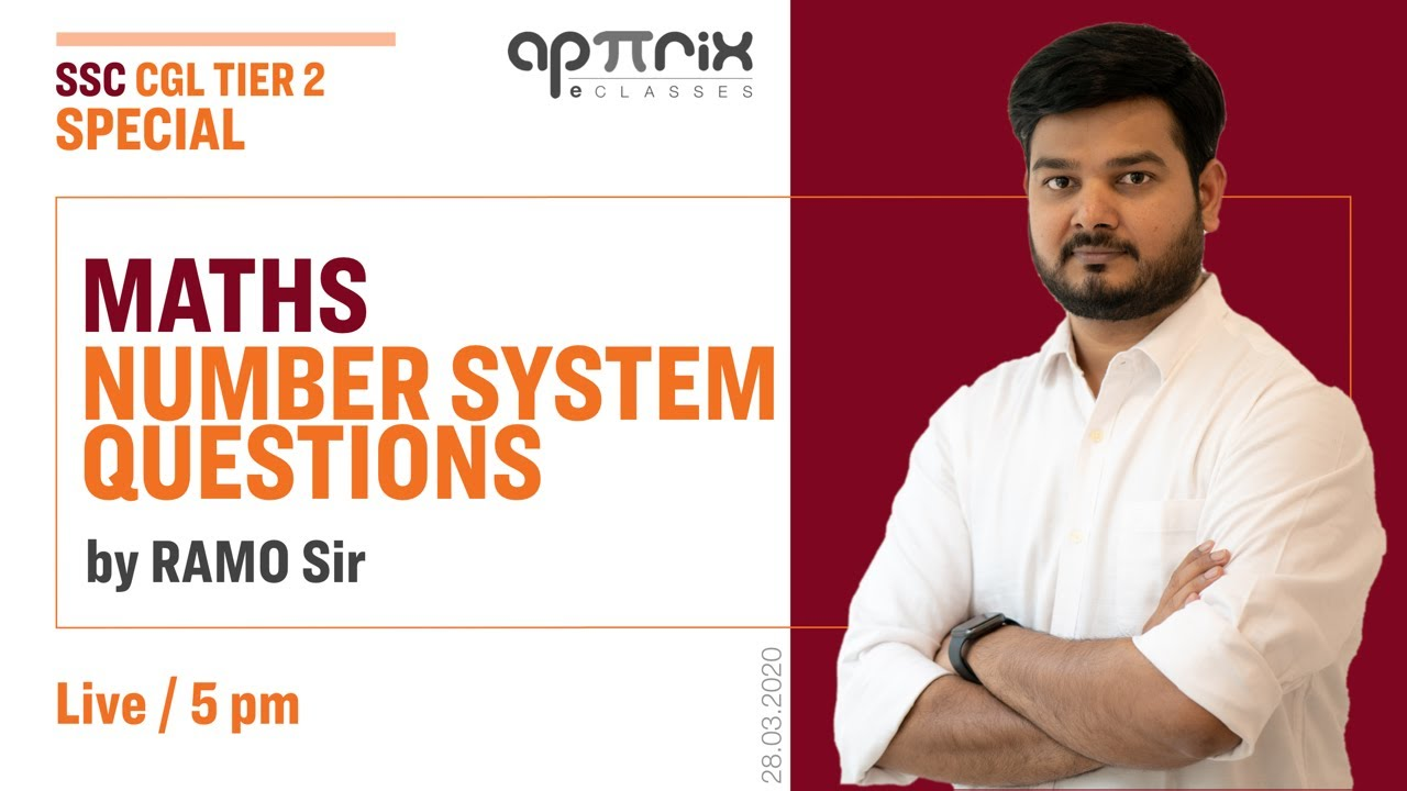 Maths Number System Questions    SSC CGL 2019 Tier-2 Special Session By RaMo Sir