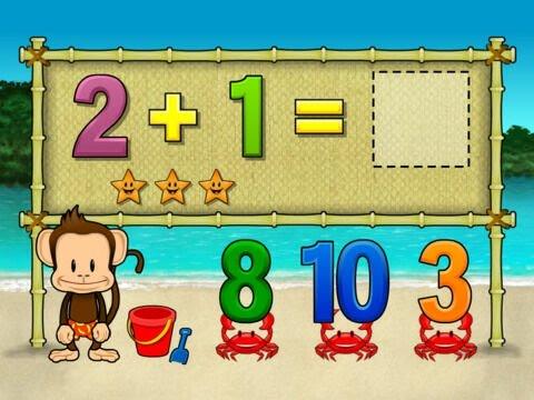Monkey Math School Sunshine   Fun Math App For Kids