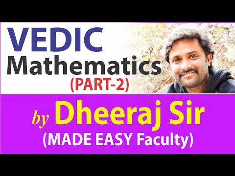 Vedic Mathematics: Super fast Calculations (Part 2 ) | R&A | by Dheeraj Sir | MADE EASY Faculty