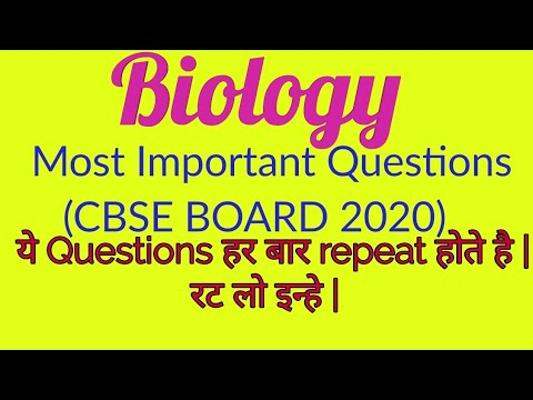 12th Biology (CBSE BOARD 2020) - Important Questions Unit 2