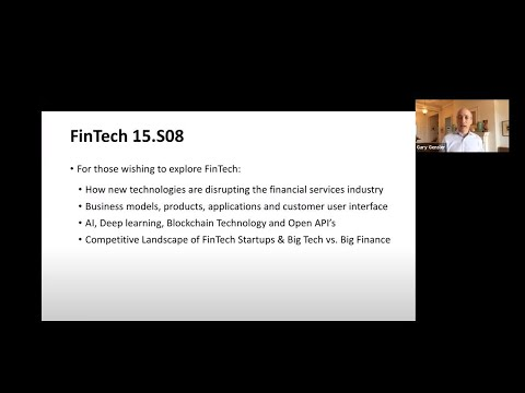 Class 1: Intro and Key Technological Trends Affecting Financial Services