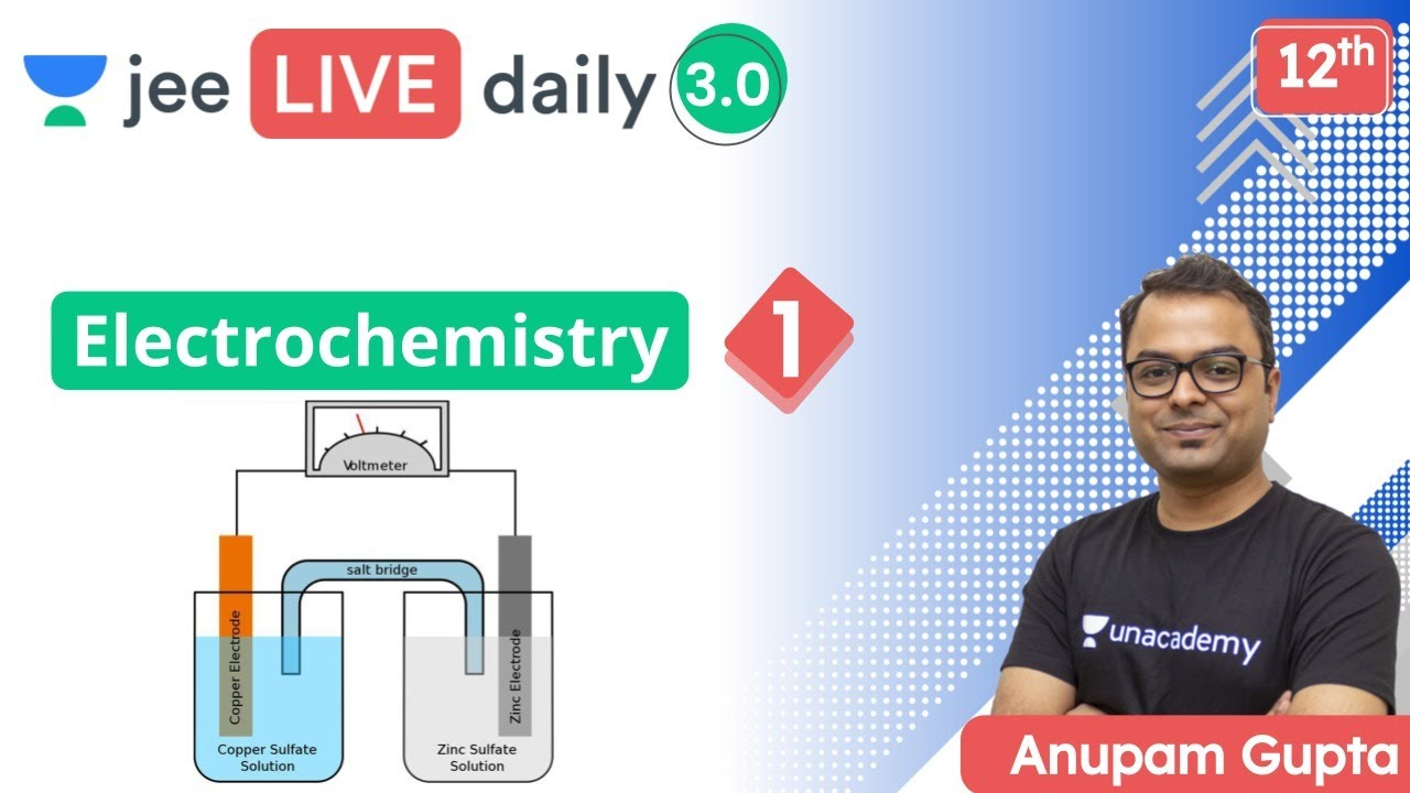 JEE: Electrochemistry L1 | Unacademy JEE | IIT JEE Chemistry | Anupam Gupta