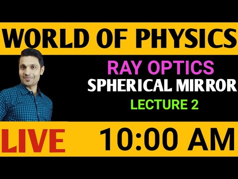 LECTURE 2|SPHERICAL MIRROR|RAY OPTICS|WORLD OF PHYSICS