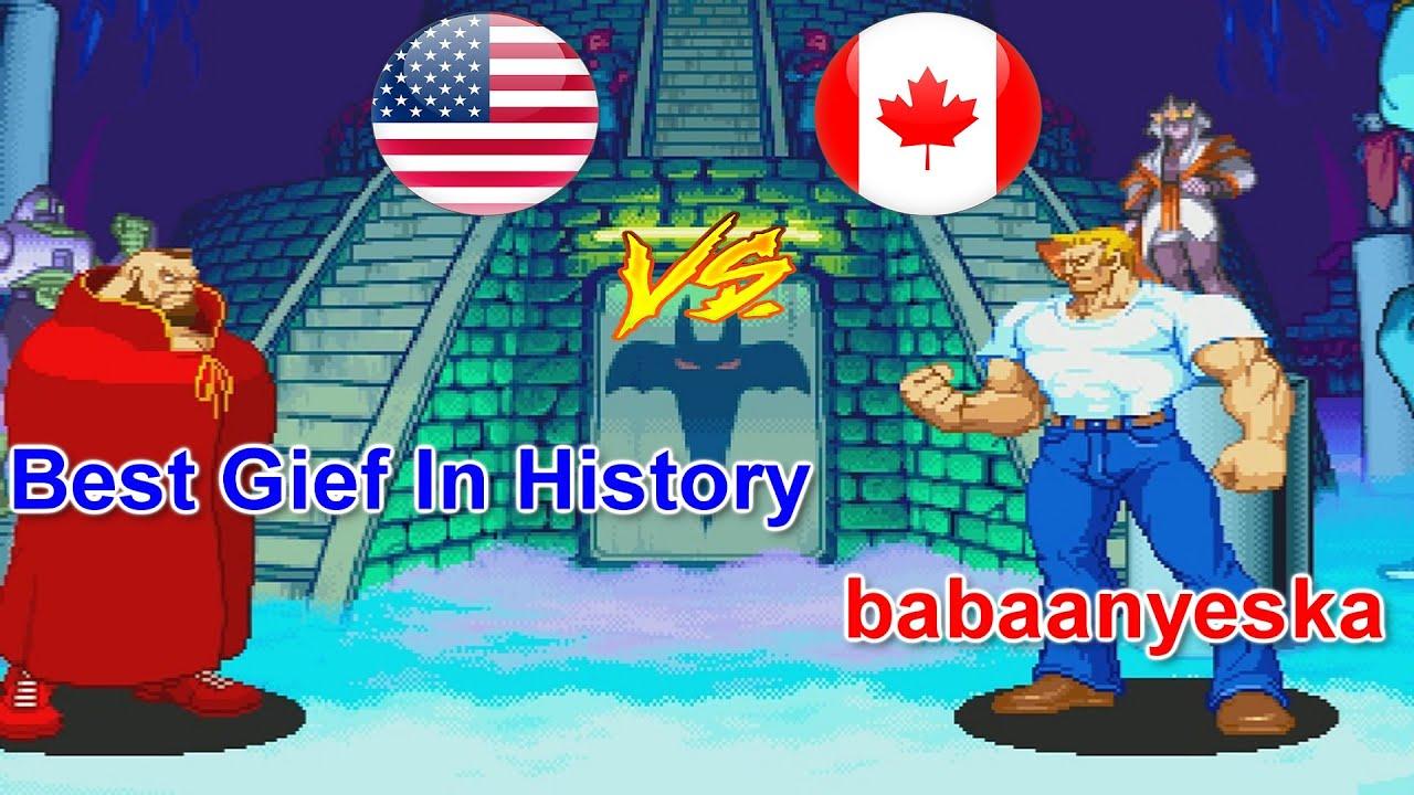 Marvel vs Capcom - Best Gief In History vs babaanyeska