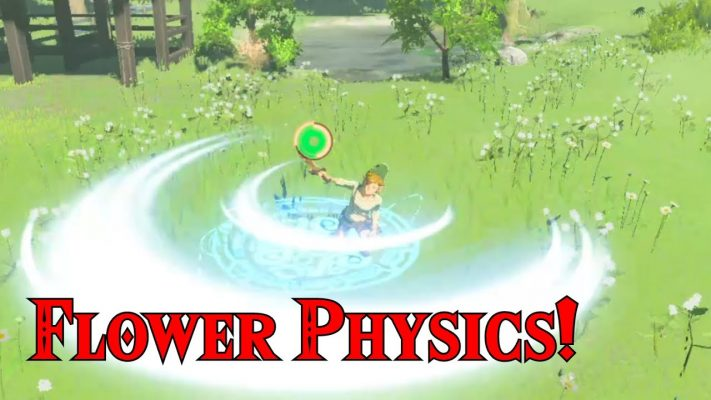 NEW Flower Physics Discovered at Link's House Garden in Zelda Breath of the Wild