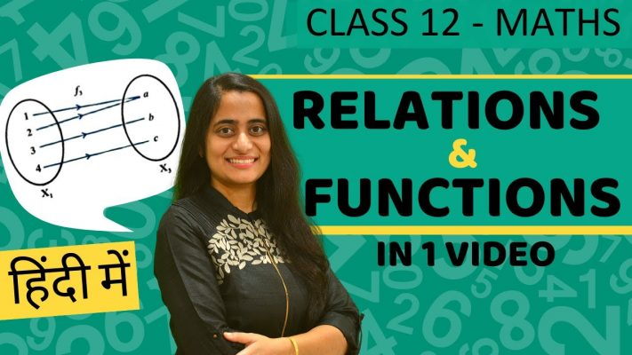 Relation and Function Class 12  Maths Chapter 1   One Shot   CBSE JEE